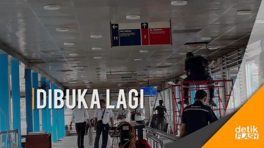 Halte TransJ Kampung Melayu Kembali Beroperasi