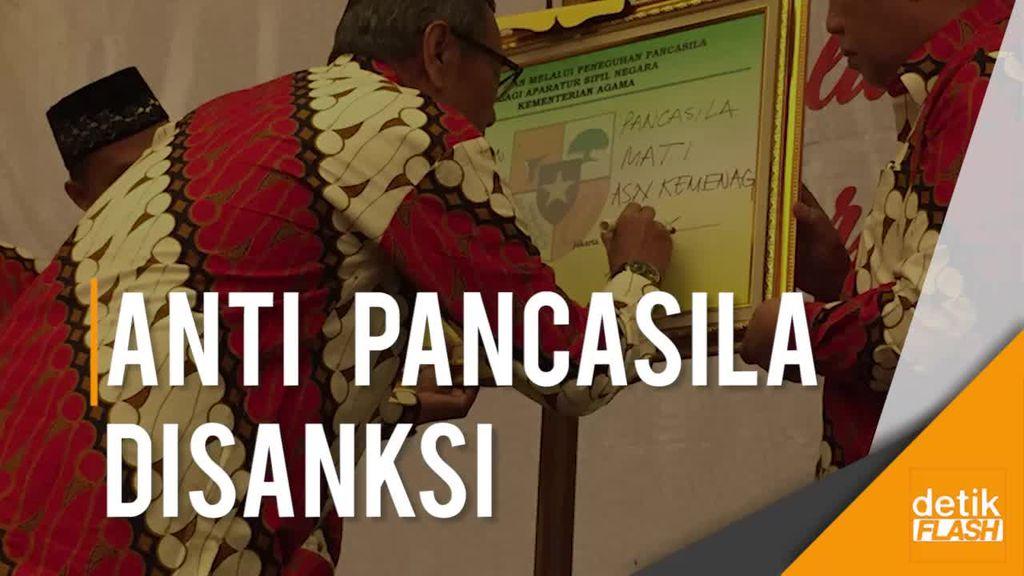 Kemenag Sanksi Tegas Aparatur Negara yang Menyimpang dari Pancasila