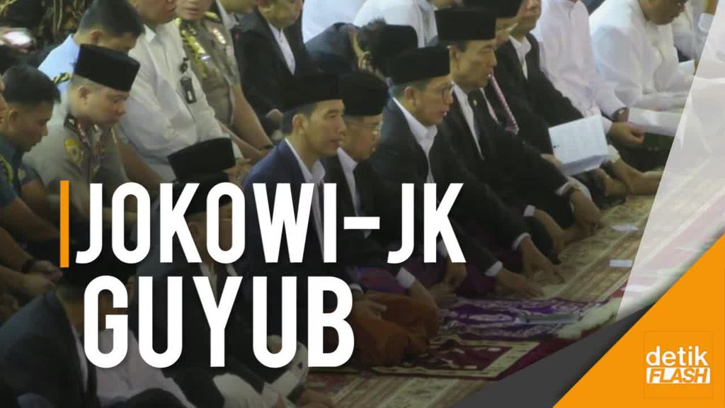 Saat Jokowi-JK dan Jemaah Khidmat Salat Id di Istiqlal