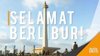 Libur Lebaran, Monas Diserbu Wisatawan
