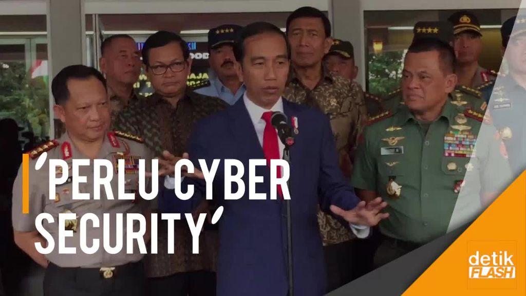 Jokowi: Lanskap Pertahanan Negara Berubah, Perlu Cyber Security