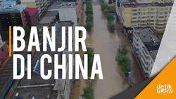 Banjir di China Akibat Hujan Deras Sepanjang Hari