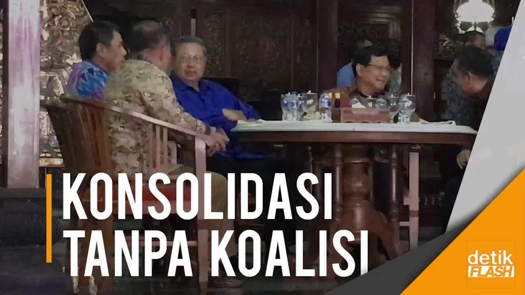 SBY Tegaskan Tak Ada Koalisi dengan Gerindra