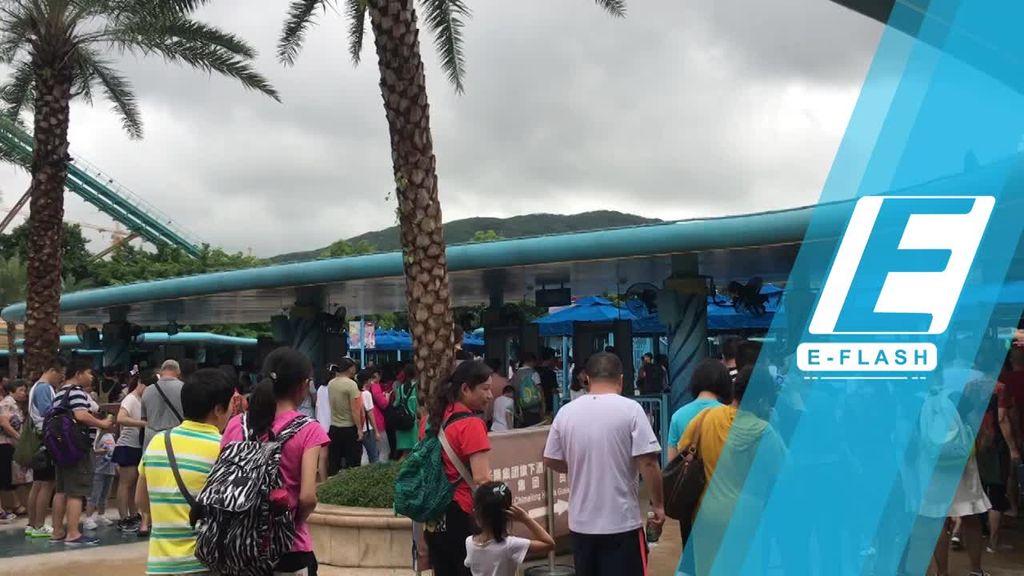 Seru! Main Roller Coaster di Chimelong Ocean Kingdom