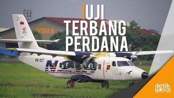 Rekaman Saat N219 Mengudara di Langit Bandung