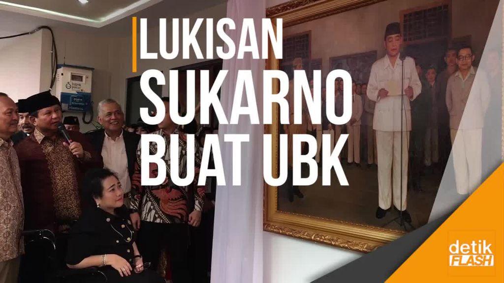 Upacara HUT RI di Kampus UBK, Prabowo Bawa Lukisan Bung Karno