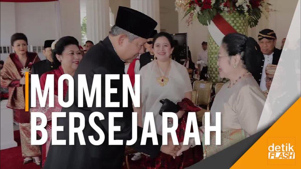 Detik-detik SBY dan Mega Bersalaman