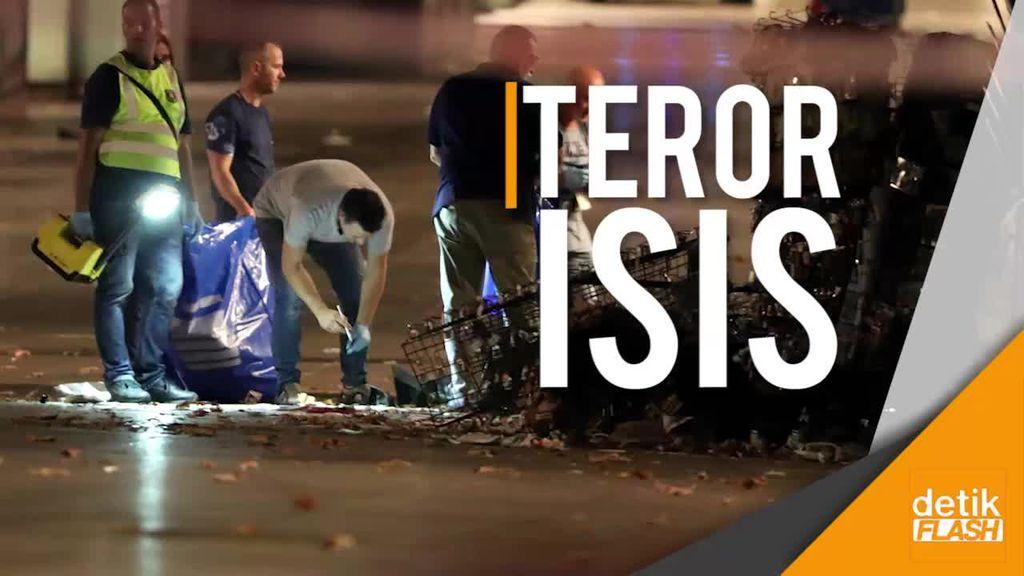Teror Van di Pusat Turis Barcelona