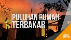 Belasan Unit Coba Padamkan Kebakaran di Kebayoran Lama