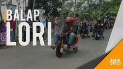 Menantang Maut, Balap Lori Tanpa Rem di Sukabumi