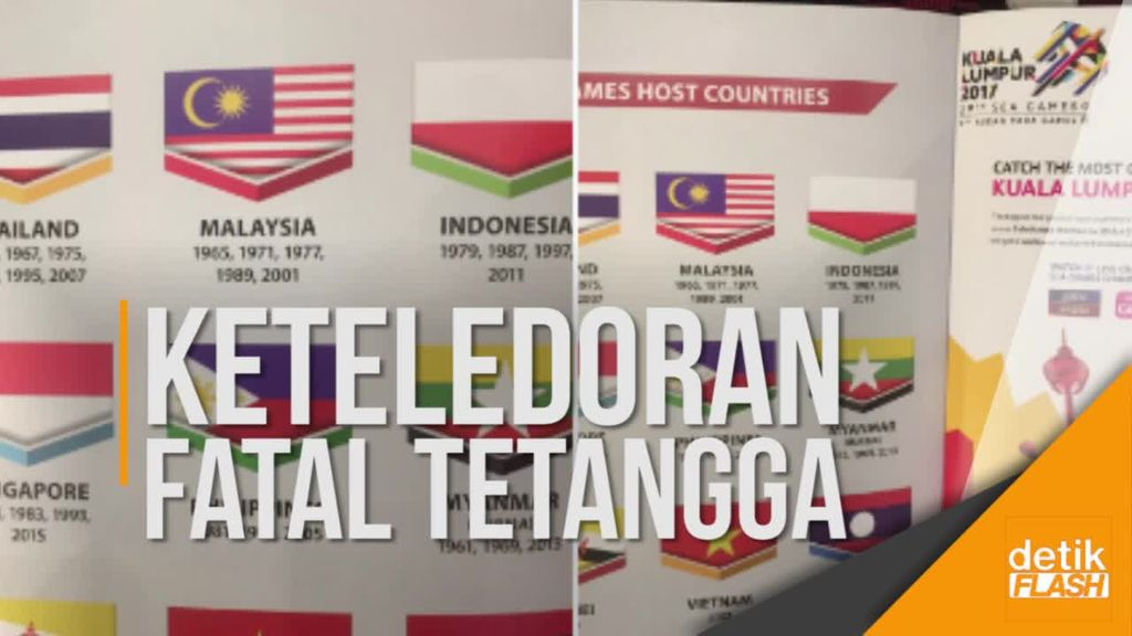 Perhelatan SEA Games 2017 Diciderai Insiden Bendera Terbalik