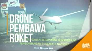 Anak Bangsa Kembangkan Drone Pembawa Roket