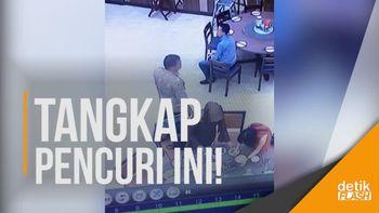 Rekaman CCTV Maling Tas Perempuan di Mal Yogya