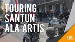 Belasan Artis Gelar Touring, Ajarkan Budaya Santun di Jalanan