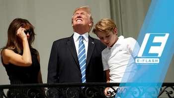 Nonton Gerhana Tanpa Kacamata, Donald Trump Jadi Bahan Meme