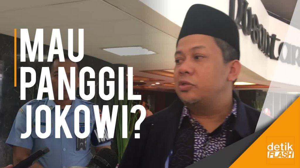 Fahri Hamzah Minta Pansus Angket KPK Panggil Jokowi