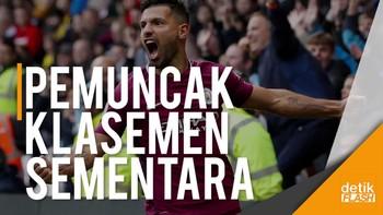 Man City Geser MU Berkat Hattrick Aguero