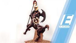 Patung Keren Ini Dibuat dari 54 Kg Cokelat!