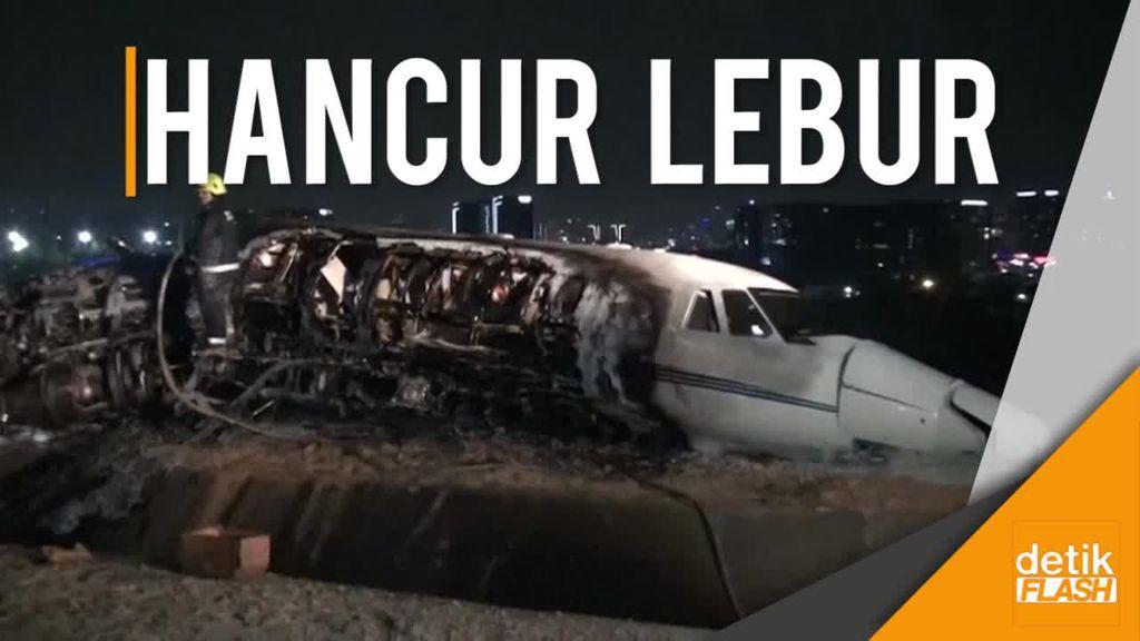 Sebuah Jet Pribadi Tersungkur di Istanbul