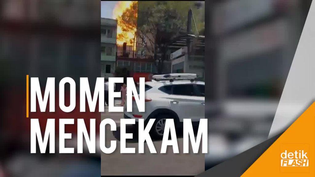 Video Ledakan dan Gedung Runtuh Saat Gempa Meksiko