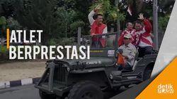 Kepulangan Atlet Para Games Indonesia Disambut Meriah