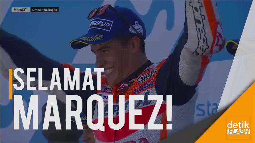 Highlight Marc Marquez Juara di GP Aragon