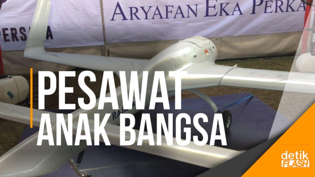 Intip Uji Coba Pesawat Tanpa Awak Karya Anak Bangsa