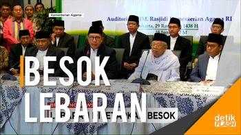 Menteri Agama Tetapkan 1 Syawal 1438 H