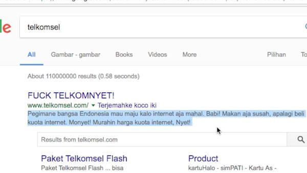 Situs Telkomsel Diretas!