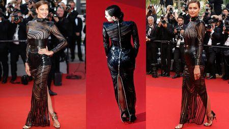 Irina Shayk Seksi Pakai Gaun Transparan di Cannes