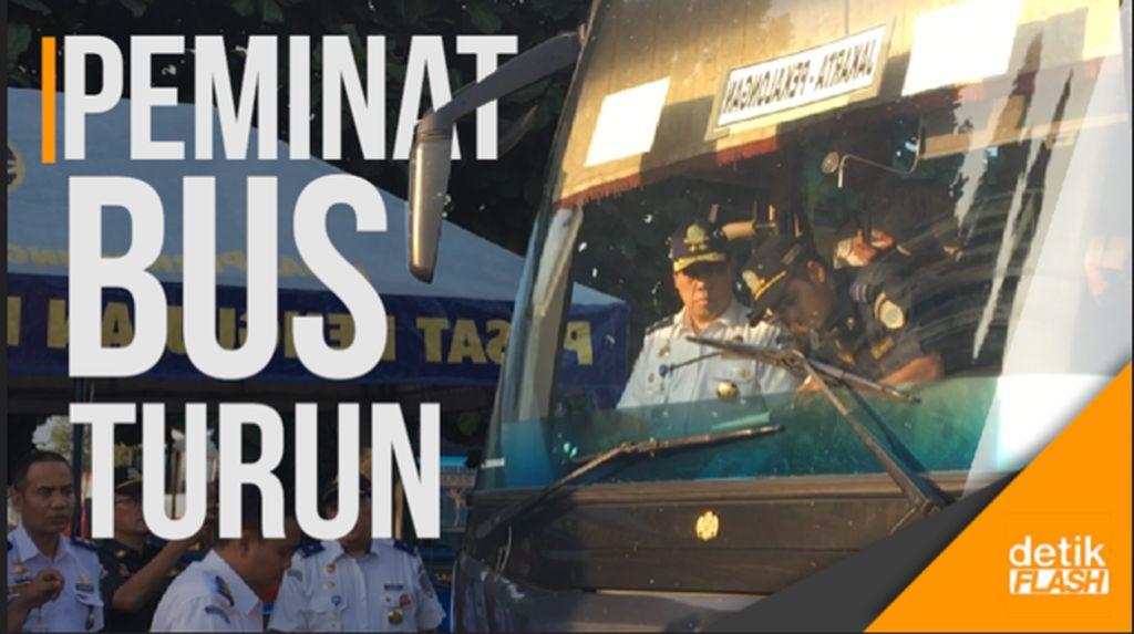 Peminat Moda Bus Terpantau Turun di Angkutan Mudik 2017