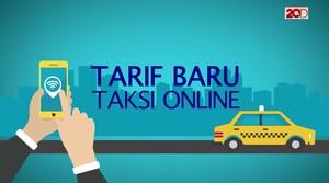 Daftar Tarif Baru Taksi Online