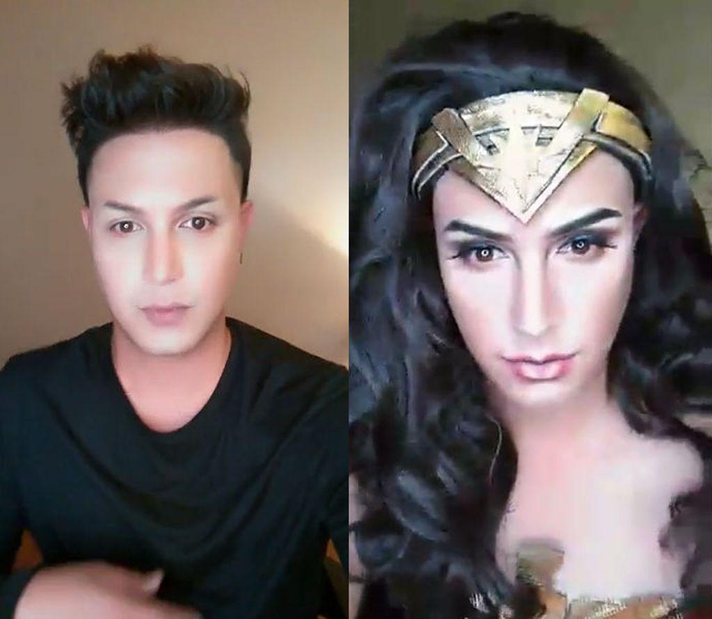 Viral! Pria Ini Jadi Super Cantik Seperti Wonder Woman