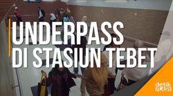 Asyik, Ada Underpass di Stasiun Kereta Api Tebet!