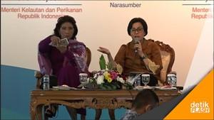 Respon Menteri Susi Saat Disindir Sri Mulyani Soal Rokok