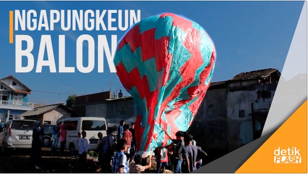 Tradisi Ngapungkeun Balon Warga Garut Rayakan Lebaran