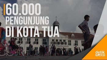 Kota Tua Jakarta Padat Pengunjung saat Libur Lebaran