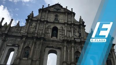 Hujan-hujanan di Ruins of St Pauls Macau
