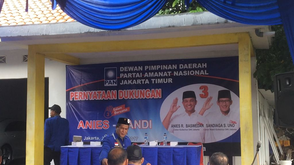 DPD PAN Jaktim Nyatakan Dukungan buat Anies-Sandi
