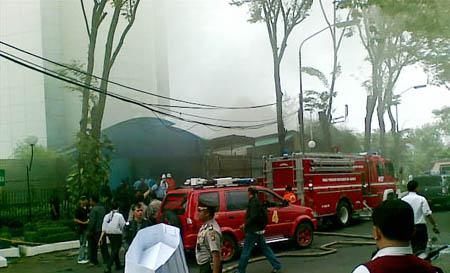 Hotel Gran Melia Terbakar