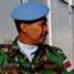 Dansatagas POM TNI Letnan Kolonel Cpm Ujang Martenis menyambut kedatangan Komandan Sektor Timur UNIFIL Brigadir Jenderal Casimiro Sanjuan Martinez. (Lettu Sus M. Soleh, S.IK).