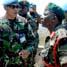 Kepala Staf Angkatan Darat Tanzania Letnan Jenderal Abdulrahman Amir Simbo yang melakukan kunjungan ke Markas Kompi Bravo Indobatt UN POSN 8-33. (Letkol Arh Hari Mulyanto).