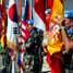 Pengibaran bendera PBB dan seluruh bendera negara kontingen yang ikut dalam UNIFIL secara bersamaan serta menyanyikan lagu UN. (Kapten Laut (KH) Hondor Saragih).