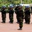 Upacara pemberangkatan 150 personel Satgas Kompi Mekanis TNI Konga XXIII-C1/UNIFIL ke Libanon ini berlangsung di Mabes TNI, Cilangkap, Jakarta Timur, Jumat (30/10). (Kadispenum Puspen TNI).