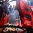 Demonstran membakar keranda di depan kantor DPRD Sulsel, sebagai sikap putus asa dari pemerintahan SBY-Boediono.