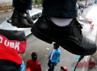 Aksi teatrikal ini untuk menegaskan penolakan mereka kepada rezim SBY-Boediono.