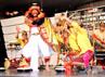 Pertunjukan tari dari tim kesenian Sanggar Kumara Widya Suara Kabupaten Jembrana di kota Osaka. Tarian asal Bali yang ditampilkan ini berhasil memukau penonton. (Anggraeni Widiastuti).