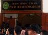 Sidang digelar di ruang sidang utama Prof.H.Oemar Seno Adji, SH dan dijaga ketat polisi. M Rizki/detikcom.