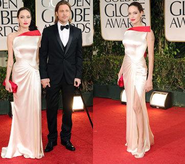 Gaun Seksi Pilihan Jolie untuk Golden Globe 2012