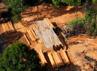 Dari pantauan udara, di kawasan tersebut banyak berdiri sawmill (tempat penggergajian kayu) liar. (Dok Pemkab Meranti).
